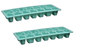 RUBBERMAID MINT GREEN LIMITED COLOR EASY RELEASE ICE CUBE TRAY 2867B 2 PACK NEW