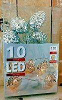 LED Lichterkette Zapfen silber gold Batterie batteriebetrieben warmweiß Deko Neu