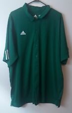 Adidas Climacool Men's Button Up Short Sleeve Shirt Size XL Green