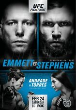 A5 Print – UFC on Fox 28 Emmett vs. Stephens (affiches Mixed Martial Arts MMA)
