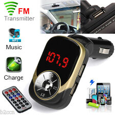LCD Car MP3 MP4 Player Wireless FM Transmitter Modulator SD/ MMC Card w/ Remote