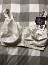NEW Aviana Bra Beige 36F Soft Cup Plus Size Full Figure Full Coverage #2353