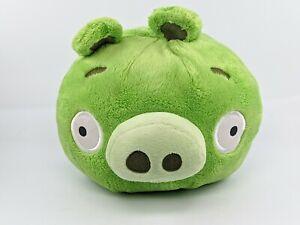 "Rovio Angry Birds Plush Pig 8"" Green Commonwealth Toy NO SOUND"