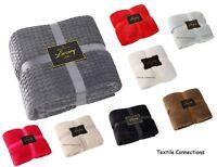 Throw Blanket Sofa Bed Large Fleece Soft Warm Cover Luxury Bedspread Settee Mink