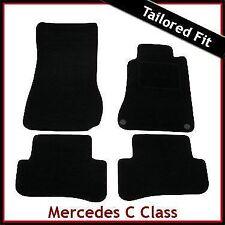 Tailored Carpet Floor Mats for MERCEDES C-Class W203 Saloon 2000-2007 BLACK