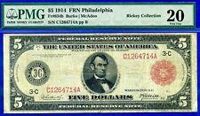 FR-834-b 1914 $5 FRN (( Philadephia )) PMG VF-20  # C1264714A.