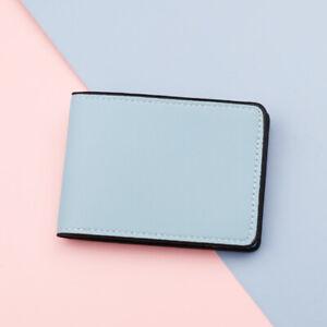 New Men Women Leather Wallet ID Credit Card Holder Slim Driver's License Holder