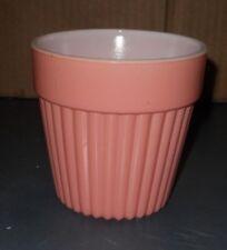 VTG ANCHOR HOCKING PINK WHITE MILK GLASS CUP VASE BOWL TUMBLER  PLANTER