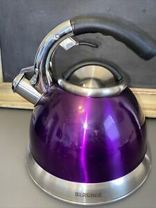 BERGNER TEAPOT INDUCTION MODEL 1590  Purple Tea Kettle Great Condition