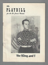 "Alfred Drake ""KING AND I"" Sal Mineo / Rodgers & Hammerstein 1953 Playbill"