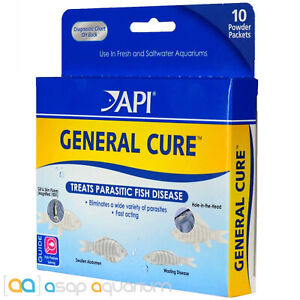API General Cure Freshwater Saltwater Fish Powder Medication10 Packets 325mg Ea.