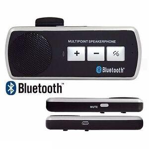 KIT VIVAVOCE BLUETOOTH V3.0 PER AUTO IPHONE 5S 6S 7 UNIVERSALE SAMSUNG S5 S6 S7