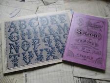 Sajou Français Cross Stitch Pattern Album-Mauve Album Nº 106-alpabets & MONOGRAMME