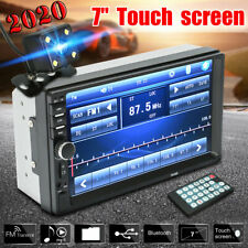 2 DIN 7'' Car MP5 1080P Bluetooth Touch Screen Stereo Radio Player +Rear Camera