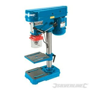 BENCH TOP HEAVY DUTY PILLAR DRILL PRESS 5 SPEED CAST IRON 13mm SILVERLINE 262212