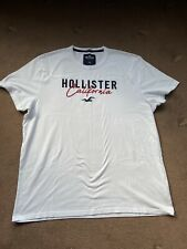 MENS CASUAL OFFICIAL WHITE HOLLISTER  CASUAL T-SHIRT SIZE XXL EX.COND'