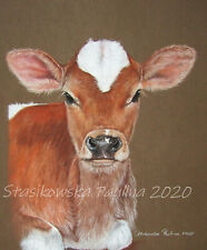 Portrait of COW**** ORIGINAL handmade pastel painting