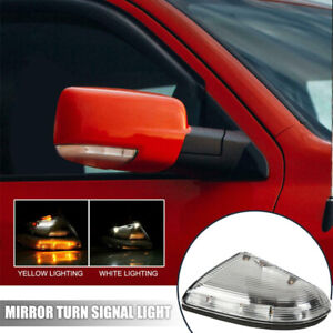 For Dodge Ram 1500 2009-2013 Passenger Side Mirror Turn Signal Light Clear Lens