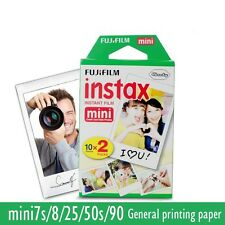 20 Fujifilm Fuji Instax Mini Film White Sheet for 7 7s 8 10 20 25 50s 50i SP1 dw