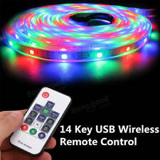 DC5-24V 14 Keys Mini USB Remote Controller for WS2811 WS2812B LED Strip Light