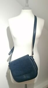 Joules French Navy Cross Body Saddle Bag Adjustable Strap