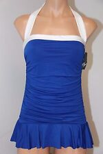 NWT Ralph Lauren Swimsuit 1 one piece Size 12 attached skirt OCN Slimming fit