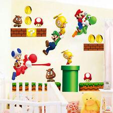 Removable Super Mario Bros Child Kitchen Livingroom Home Decor Wall Sticker