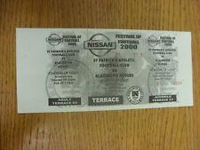 05/08/2000 Ticket: St Patricks Athletic v Blackburn Rovers [Festival Of Football