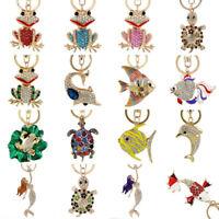 Crystal Cute Keychains Rhinestone Keyring Charm Pendant Purse Bag car Key Chain