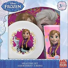 Disney Frozen - Elsa & Anna 3 Piece Children's Dinnerware Set - Frozen Movie