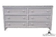 LEXINGTON Henry Link White Wicker 58″ Double Dresser 477-222