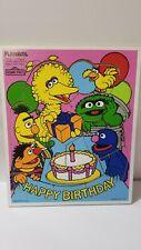 Vintage Playskool Sesame Street Happy Birthday Puzzle
