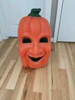 RARE Vintage Scary Jolly Face Pumpkin Lighted Halloween Blow Mold
