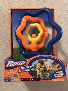 Banzai Cyclone Spin Sprinkler 3-ring Spinning -NEW