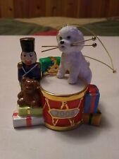 The Danbury Mint 2008 ~ Christmas Drummer ~ Bichon Frise ~ Christmas Ornament