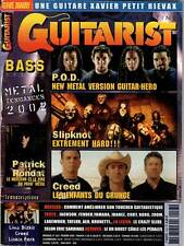 "GUITARIST MAGAZINE #143 ""P.O.D.,Slipknot,Creed,P.Rondat"" (REVUE)"