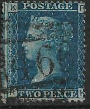 1869 2d Blue Letters KR Plate 15? Used