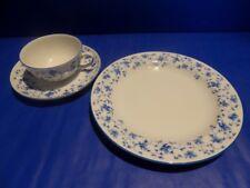 Arzberg Tee Gedeck Blaublüten Tasse Kuchenteller Porzellan Kaffee