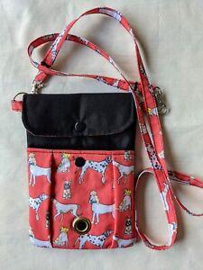 Dog Walking Crossbody Bag - 3 Pockets, Poo Bags/Treats/Phone - Padded - Handmade