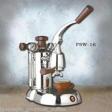 La Pavoni PSW-16 Stradavari 16-Cup Espresso Machine,Chrome With Wood Handles NEW