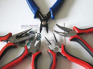 Schmuckwerkzeug Saitenschneider Spitzzange Quetschperlenzange etc kleine Zangen