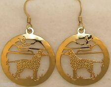 Curly Coated Retriever Jewelry Gold Earrings