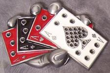Metal Belt Buckle Gamble Handful of Aces NEW