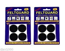 8 x 32mm Black Felt Furniture Floor Skid Protector Pads Self Adhesive
