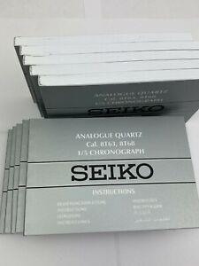 1 x Seiko Instruction Booklet - Analogue Quartz - 1/5 Chronograph Cal. 8T63/8T68