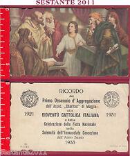 1595 SANTINO HOLY CARD GESù AL TEMPIO TRA I DOTTORI MUGGIA NB R / 3099 CHARITAS