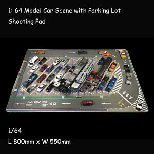 1: 64 Model Car Scenery with Parking Lot Shooting Pad Mouse Pad Table Pad Gifts