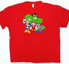 Video Game XL Shirt Super Mario Avengers Iron Man/Thor/Hulk/Captain America /