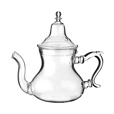 Moroccan Glass Teapot with Integrated Filter 300 ml Small (about 2 Tea Glasses)