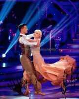 Strictly Come Dancing *Helen George & Aljaz Skorjanec* Hand Signed 10x8 Photo